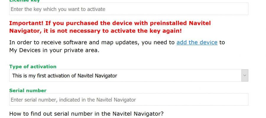 Navitel Windows CE Activation