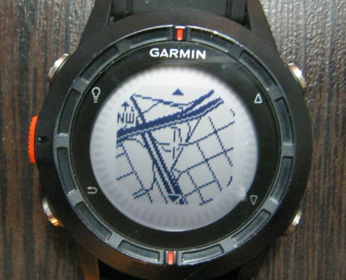 street map on Garmin Fenix